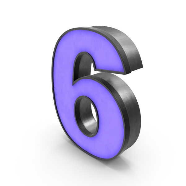 Luminous Number 6 PNG & PSD Images