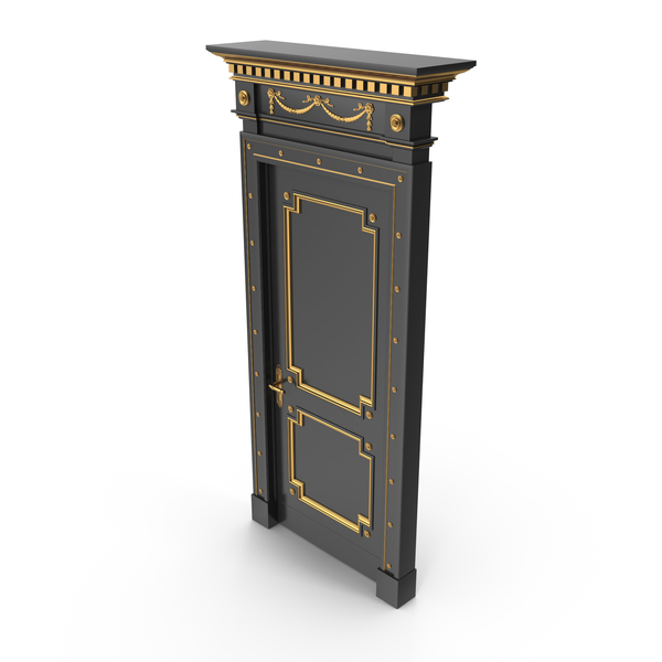 Luxury Door Black PNG & PSD Images
