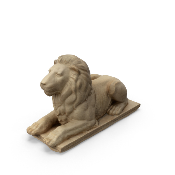 Lying Lion Statue PNG & PSD Images