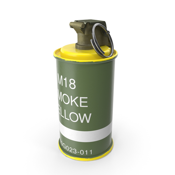 M18 Colored Smoke Grenade Yellow PNG & PSD Images