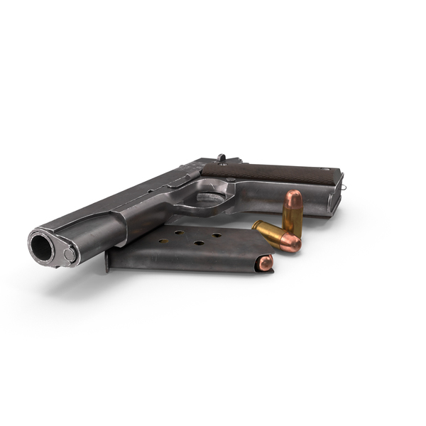 M1911 Pistol Filler Bullets PNG & PSD Images