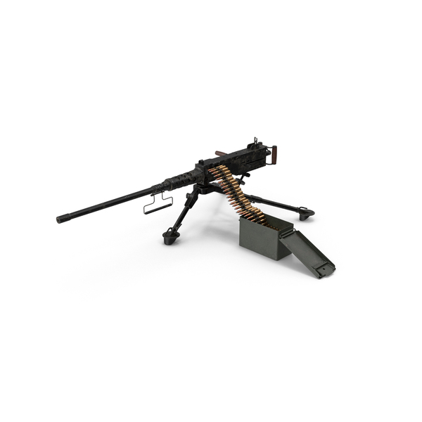 Machine Gun: M2 Browning PNG & PSD Images