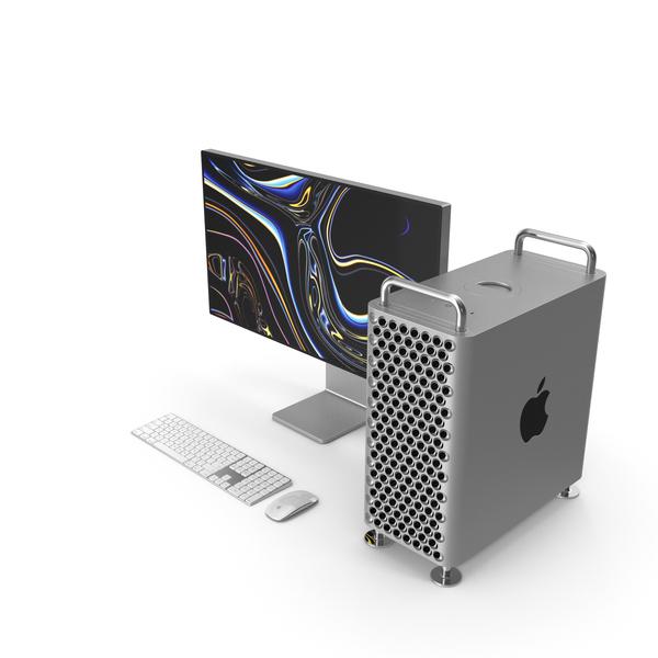 Mac Pro 2019 Set PNG & PSD Images