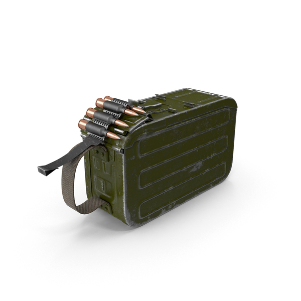 Machine Gun 100 Round Ammunition Box PNG & PSD Images