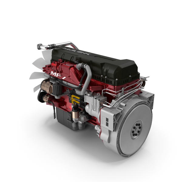 Mack MP7 Semi Truck Engine PNG & PSD Images
