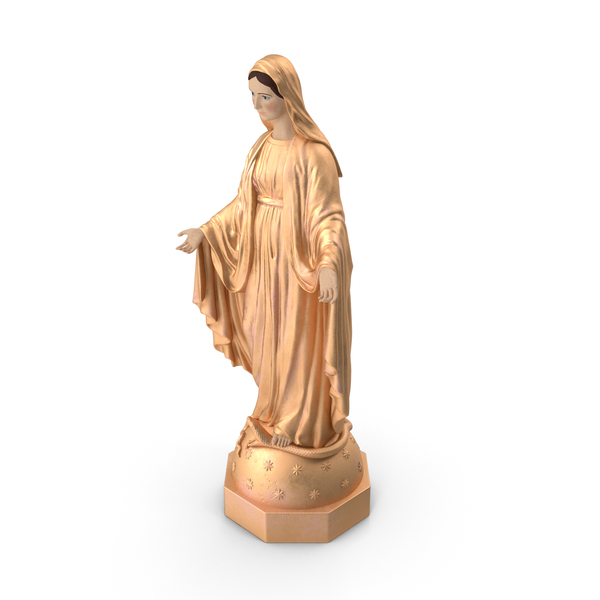 Madonna Virgin Mary Statue Golden PNG & PSD Images