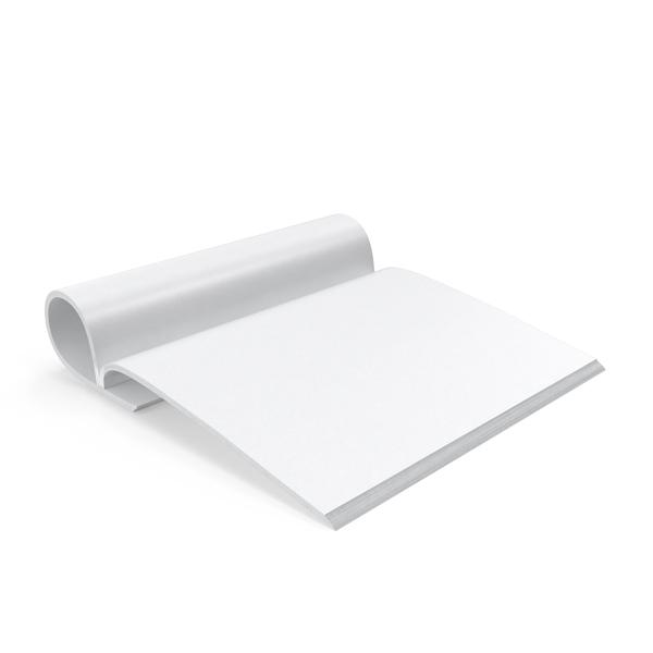 Magazine Mockup Folded Open Object
