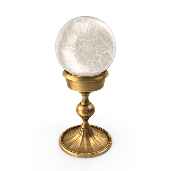 Crystal: Magic Ball Gold PNG & PSD Images