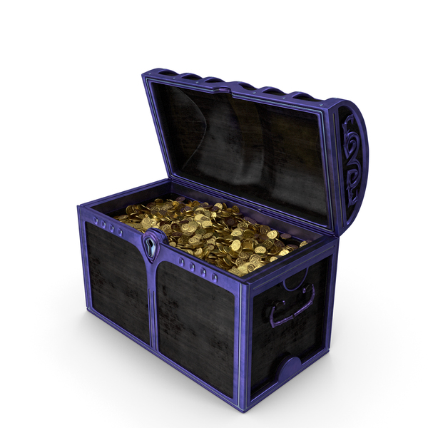 Magical Chest With Gold Coins PNG & PSD Images