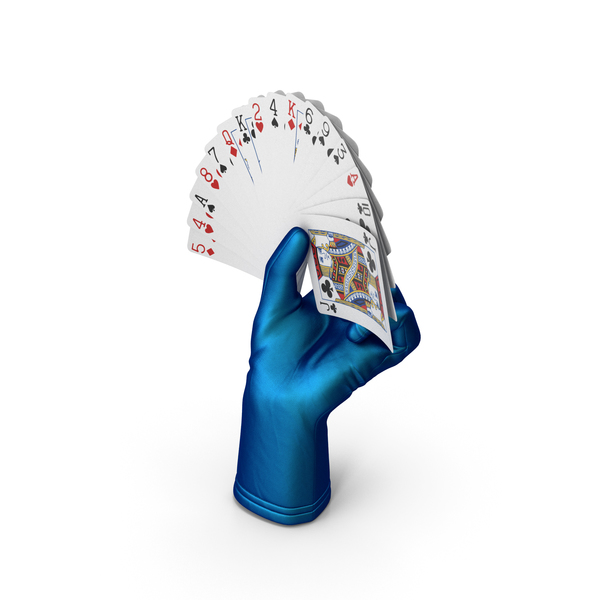 Playing: Magician Glove Holding a Fan of Cards PNG & PSD Images