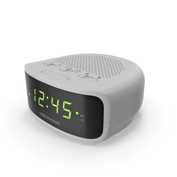 Magnasonic Digital Clock Radio White PNG & PSD Images
