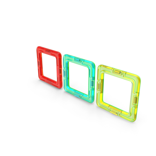 Toys: Magnetic Designer Colored Four Squares PNG & PSD Images