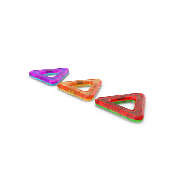 Magnetic Designer Colored Triangles PNG & PSD Images