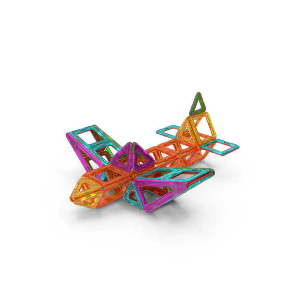 Magnetic Designer Toy Airplane PNG & PSD Images