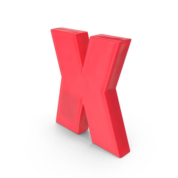 Magnet Souvenir: Magnetic Letter X Object