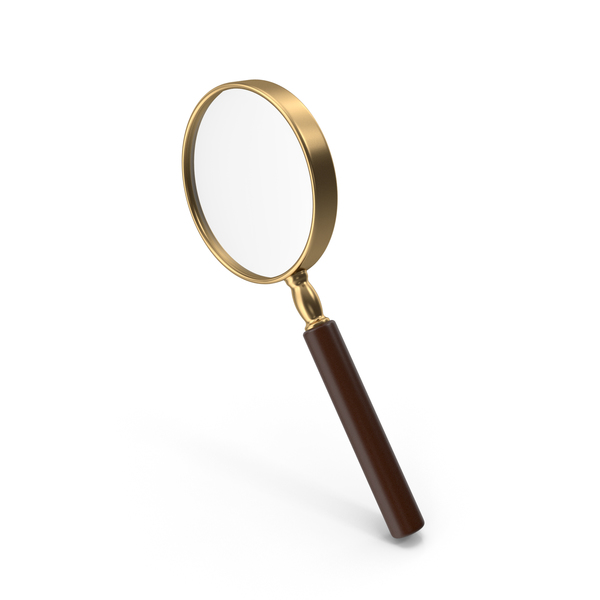 Office Supplies: Magnifying Glass Gold PNG & PSD Images