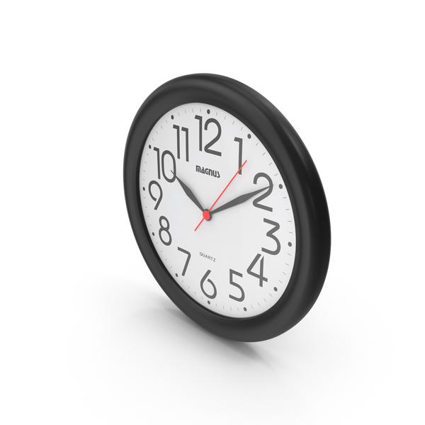 Magnus Round Black Clock PNG & PSD Images