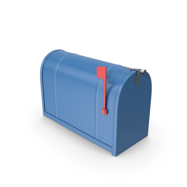 Mailbox Closed Blue PNG & PSD Images