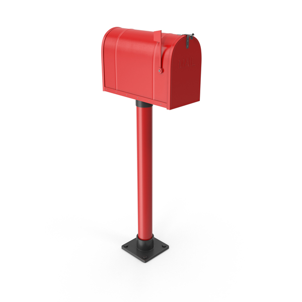 Mailbox On Post Red PNG & PSD Images