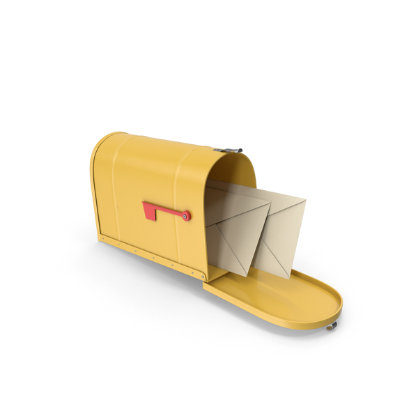 Mailbox Yellow PNG & PSD Images