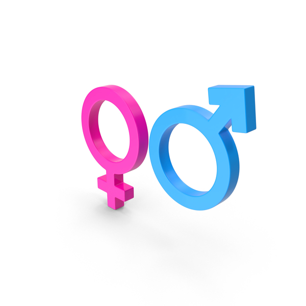 Male and Female Gender Symbol PNG & PSD Images
