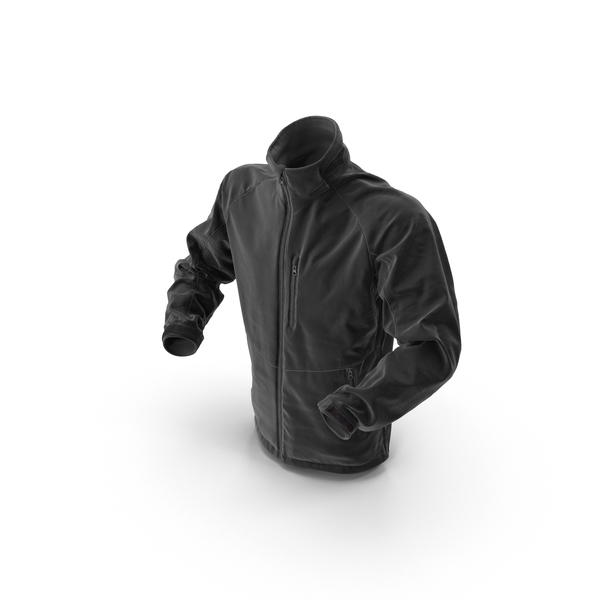 Male Black Hi Tech Winter Jacket PNG & PSD Images