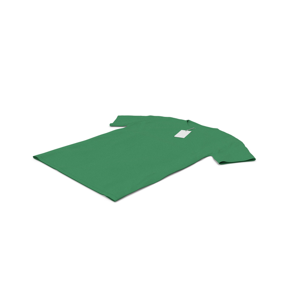 Shirt: Male Crew Neck Laying With Tag Green PNG & PSD Images