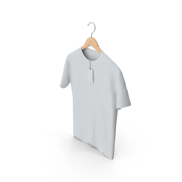 T Shirt: Male Crew Neck on Hanger PNG & PSD Images