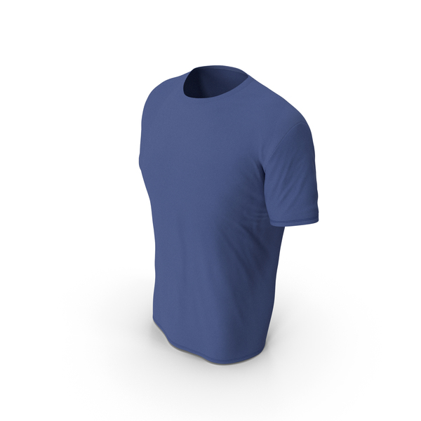 Shirt: Male Crew Neck Worn Dark Blue PNG & PSD Images