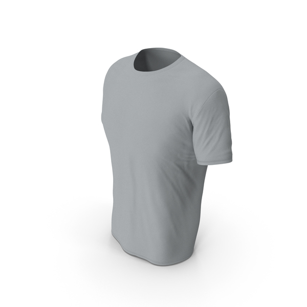 Shirt: Male Crew Neck Worn Gray PNG & PSD Images