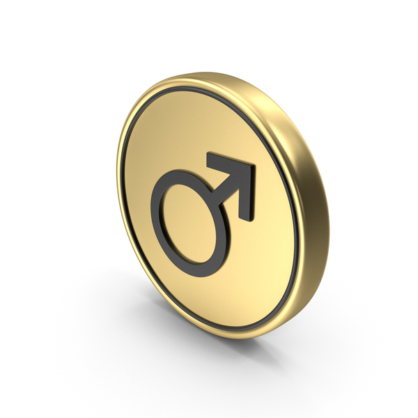 Male Gender Coin Logo Icon PNG & PSD Images