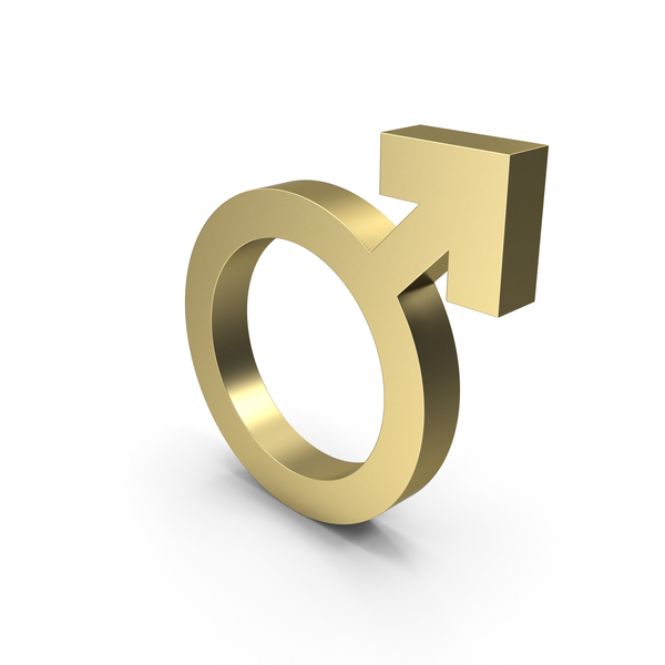 Male Gender Symbol Gold PNG & PSD Images