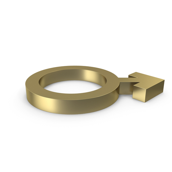Male Gender Symbol Side Gold PNG & PSD Images