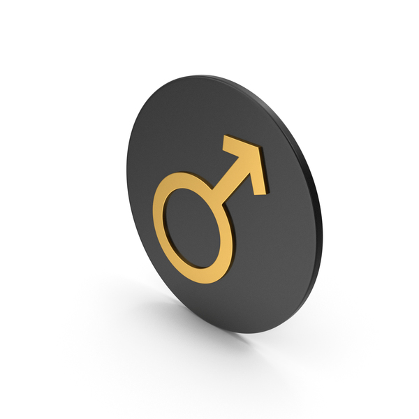 Symbol: Male Gold Icon PNG & PSD Images