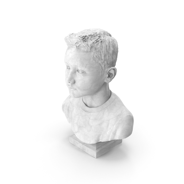 Male Kid Bust PNG & PSD Images