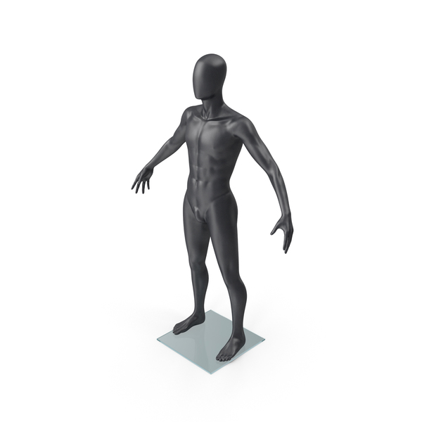 Male Mannequin Dark Grey PNG & PSD Images
