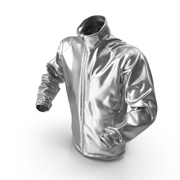 Male Silver Winter Jacket PNG & PSD Images