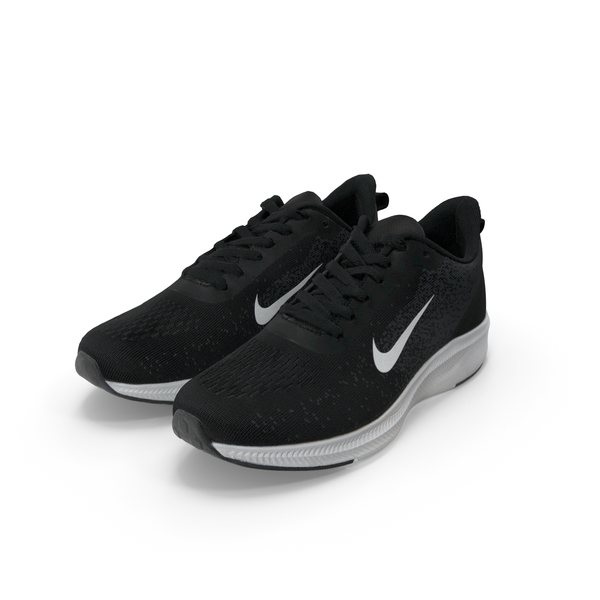 Male Sneakers Nike Black Pair PNG & PSD Images