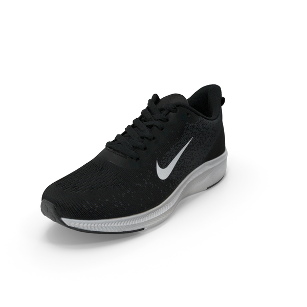 Male Sneakers Nike Black PNG & PSD Images