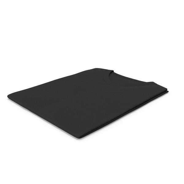 Shirt: Male V Neck Folded Black PNG & PSD Images