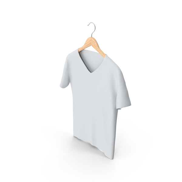 T Shirt: Male V-Neck Hanging on Hanger PNG & PSD Images