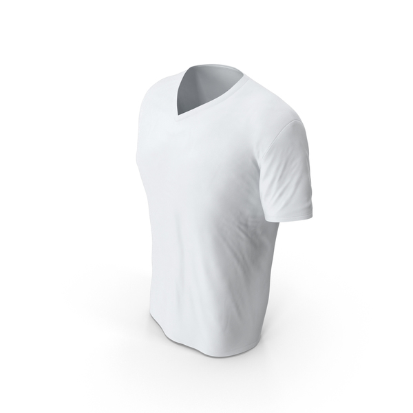 Male V-Neck Worn PNG & PSD Images