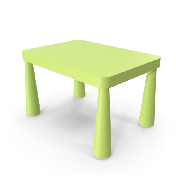 Children's: Mammut Table Green PNG & PSD Images