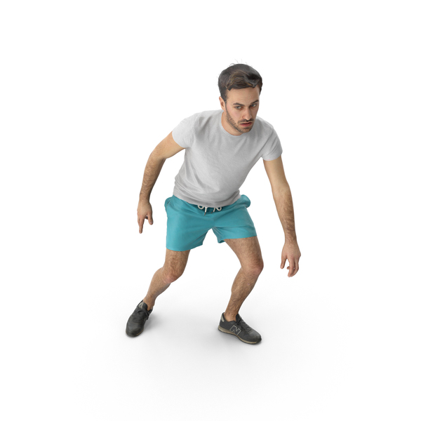 Man Crouched PNG & PSD Images
