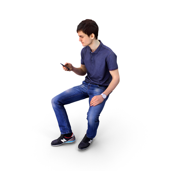Man On Phone Sitting Business PNG & PSD Images