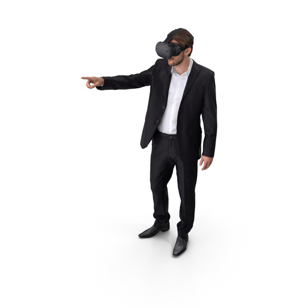 Man Posed With VR PNG & PSD Images