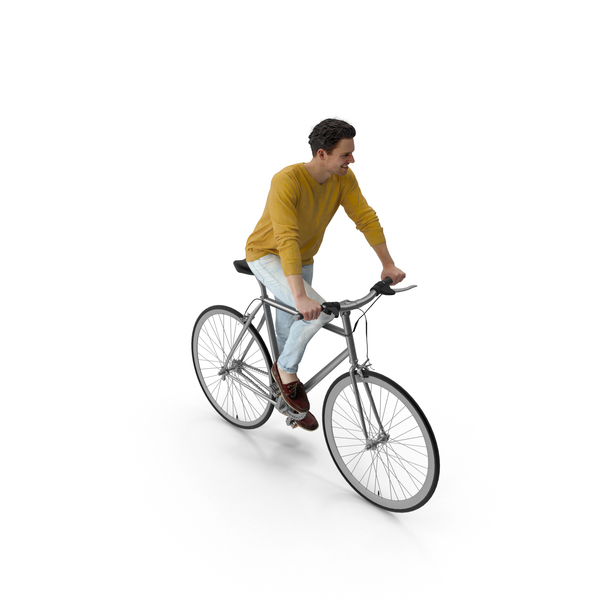 Characters: Man Riding Bike Vince PNG & PSD Images