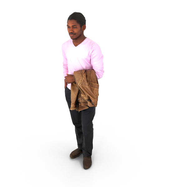 Man Standing with Jacket PNG & PSD Images