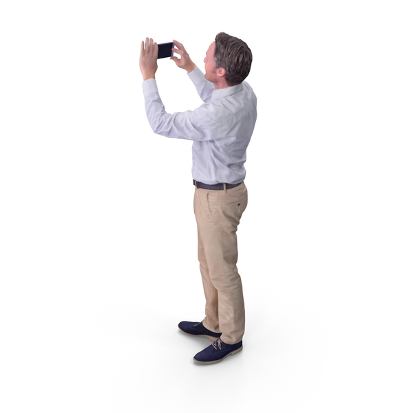 Man Taking Photo With Phone PNG & PSD Images