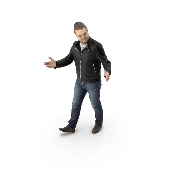 Man Walking with Open Arms PNG & PSD Images